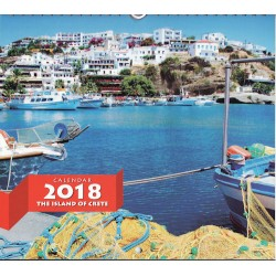 Greek wall calendar: The island of Crete /  Ημερολόγιο 2018