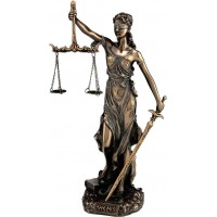 Θέμις, Θεά της δικαιοσύνης  (Διακοσμητικό Μπρούζτινο Αγαλμα 20εκ)