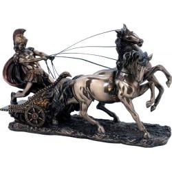 Αχιλλέας Ελληνας Μυθικός Ηρωας / Πολεμιστής  σε Αρμα (Διακοσμητικό Μπρούτζινο Αγαλμα 17x28cm)
