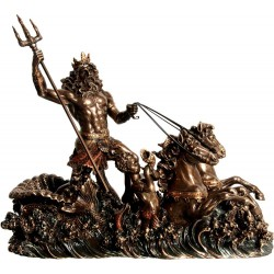 Θεός Ποσειδών (Διακοσμητικό μπρούτζινο άγαλμα 19x26cm)