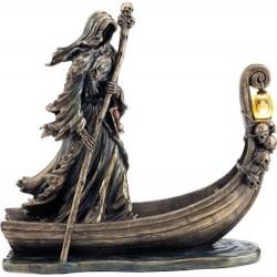 Χάρος βαρκάρης με φανό (Διακοσμητικό μπρούτζινο άγαλμα 25cm)