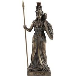 Θεά Αθηνά με ασπίδα (Διακοσμητικό μπρούτζινο άγαλμα 20cm)