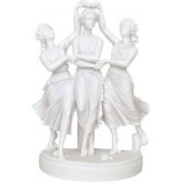 Στεφανωμένες κόρες (Διακοσμητικό αλαβάστρινο άγαλμα 15cm)