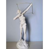 Θεά Αρτεμις Κυνηγός (Διακοσμητικό αλαβάστρινο άγαλμα 40cm)