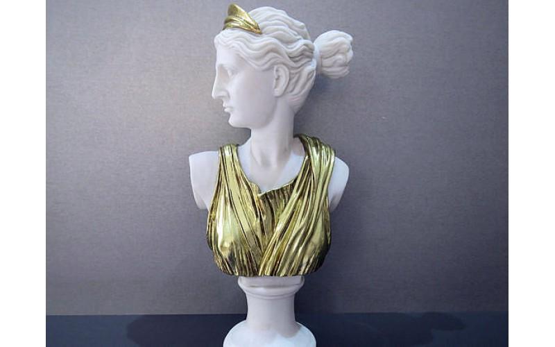 Θεά Αρτεμις προτομή (Διακοσμητικό άγαλμα τύπου μαρμάρου 32.5cm)