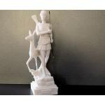 Θεά Αρτεμις κηνυγός με ελάφι και τόξο (Διακοσμητικό αλαβάστρινο άγαλμα 26cm)