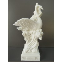 Η Θεά Αφροδίτη επάνω στον κύκνο (Διακοσμητικό αλαβάστρινο άγαλμα 25cm)