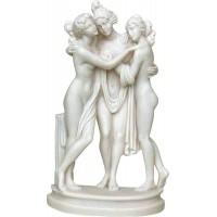 Τρεις Χάριτες (Διακοσμητικό αλαβάστρινο άγαλμα 24cm)