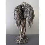 Θεά Τύχη με φτερά (Διακοσμητικό μπρούτζινο  άγαλμα 29,5cm)