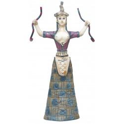 Μινωική Θεά όφεων (Polyresin άγαλμα 20x28εκ)