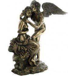Ερως και Ψυχή (Διακοσμητικό μπρούτζινο άγαλμα 28cm)