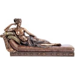 Η κυρία Παυλίνα (Μπρούτζινο άγαλμα 17x33εκ)
