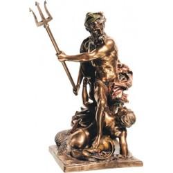 Θεός Ποσειδών με τρίαινα (Μπρούτζινο άγαλμα 28,5εκ)