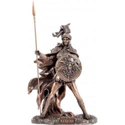 Θεά Αθηνά με ακόντιο (Μπρούτζινο άγαλμα 22cm)