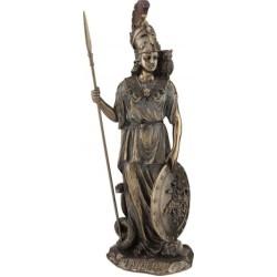 Θεά Αθηνά με ακόντιο και ασπίδα (Μπρούτζινο άγαλμα 29,5εκ)