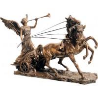 Η Νίκη με τρομπέτα πάνω σε άρμα  (Διακοσμητικό μπρούτζινο άγαλμα 16,5χ29cm)