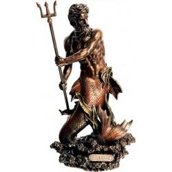 Θεός Ποσειδών με τρίαινα (Μπρούτζινο άγαλμα 29εκ)
