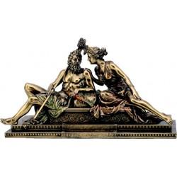 Δίας & Ηρα (Μπρούτζινο Αγαλμα 19Χ31εκ.)
