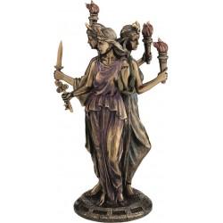 Εκάτη Θεά της μαγείας (Μπρούτζινο άγαλμα 21εκ)