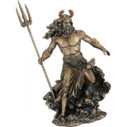 Θεός Ποσειδών με τρίαινα (Μπρούτζινο άγαλμα 30εκ)