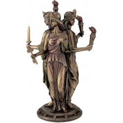 Εκάτη Θεά της μαγείας (Μπρούτζινο άγαλμα 30εκ)