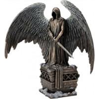 Ο Χάρος με σπαθί σε τράφο (Διακοσμητικό μπρούτζινο άγαλμα 28εκ.Χ32,5εκ.)