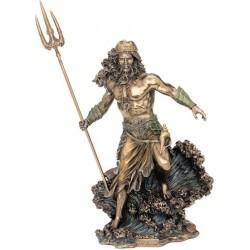 Θεός Ποσειδών με τρίαινα (Διακοσμητικό μπρούτζινο άγαλμα 50εκ)