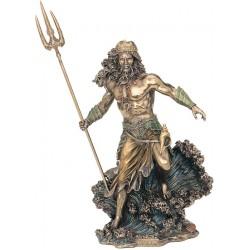 Θεός Ποσειδών με τρίαινα (Μπρούτζινο άγαλμα 20εκ)