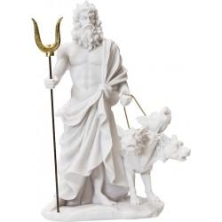 Αδης Μυθικός Θεός του Κάτω Κόσμου και ο Κέρβερος (Αλαβάστρινο Αγαλμα 14cm)