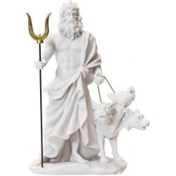 Αδης Μυθικός Θεός του Κάτω Κόσμου και ο Κέρβερος (Αλαβάστρινο Αγαλμα 24cm)