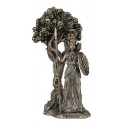 Θεά Αθηνά κάτω από την ιερή Ελιά (Μπρούτζινο άγαλμα 24.5cm)