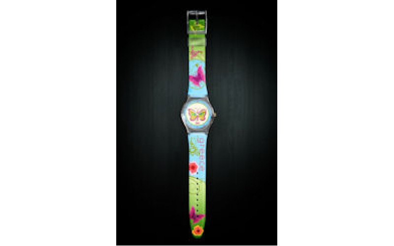 Butterfly with crystals ABS watch