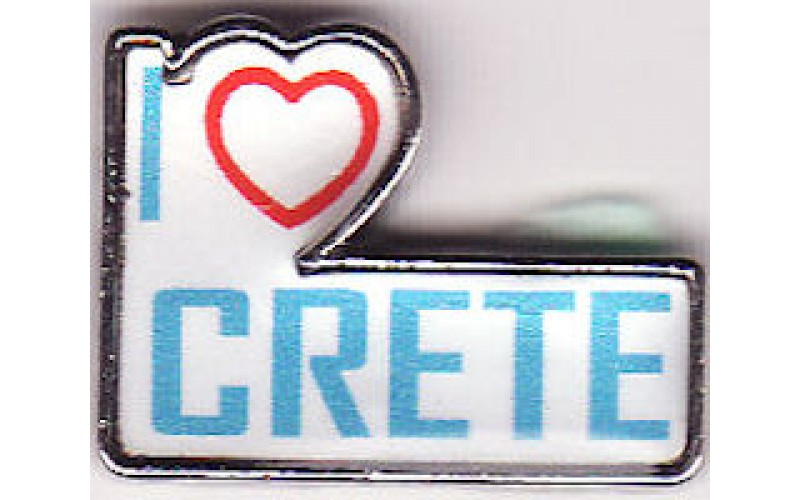 Greek Pin / I love Crete