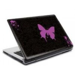 Lap top skin: Pink Butterfly 9'-11'